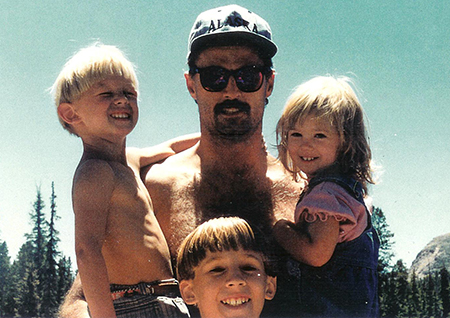 Fathers Day post - Papa Dub with Kids 1994